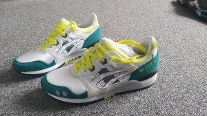 Asics Sneakers met hak wit-geel