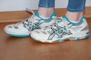 Asics Sneakers met veters wit-turkoois Nylon