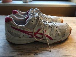 Asics Basket à lacet blanc-rouge framboise