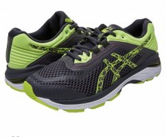 Asics Chaussures à lacets noir-vert fluo