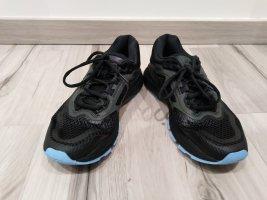 Asics Chaussures à lacets noir-bleu clair