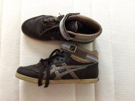 Asics Basket montante brun foncé-marron clair cuir