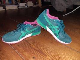 Asics Basket à lacet rose-turquoise tissu mixte