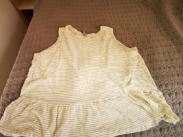 asos curve Top koszulowy biały-jasnożółty