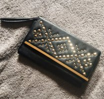 ASOS Clutch Bag Handtasche in schwarz Gold Gr S