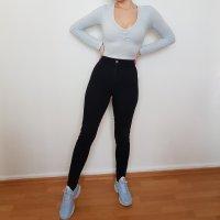 Asos Denim Jeans taille haute noir