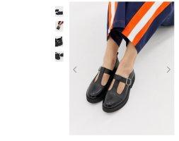 ASOS DESIGN Sandales à plateforme noir cuir