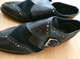 Asos Halbschuhe Slipper Business Loafer schwarz Gr 40