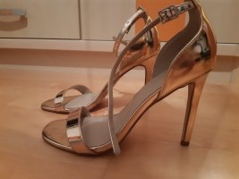 Asos High Heel Sandalette Gold Gr. 38,5