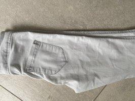 Asos Jeans taille haute gris clair-blanc