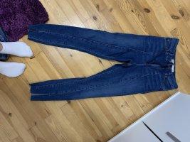 Asos Jeans taille haute bleu foncé