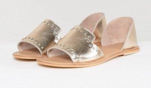 ASOS – JOVENA – Sommerschuhe aus Leder mit Nietenverzierung