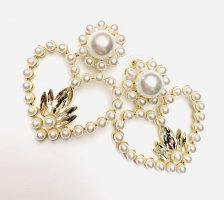 Asos Statement Earrings gold-colored-white