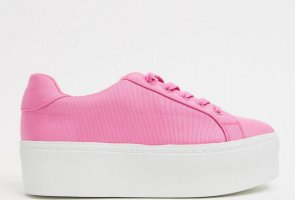 Asos Lace-Up Sneaker pink