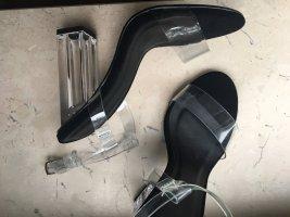 Asos - Qupid transparente sandalen heels schwarze Sohle