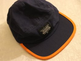 Asos Baseball Cap dark blue-orange