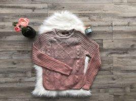 Asos Strickpulli Pullover Gr. S rosa Pastell Farbverlauf