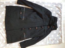 Asos Abrigo de lana negro-marrón
