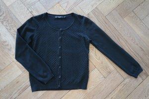 Assuili Veste en tricot noir coton