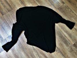 asymetrischer Pullover Strickpulli schwarz XS