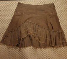 Clockhouse Asymmetry Skirt grey brown