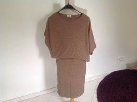 Molly bracken Vestito di lana marrone chiaro