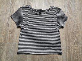 Atmosphere cropped Shirt T-Shirt Top 36 gestreift weiß schwarz