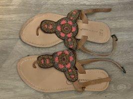 Atmosphere Flip-Flop Sandals pink-brown