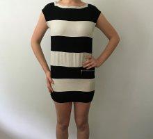 Atos Lombardini Sukienka z rękawem balonowym biały-czarny