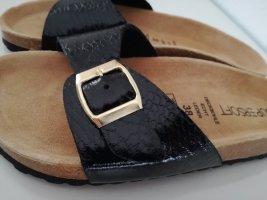 Pantoufles noir-argenté