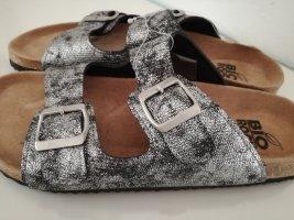 Ciabatta aperta argento-grigio chiaro