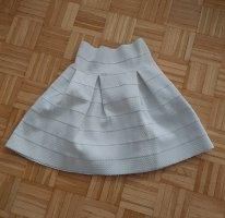 H&M Cirkelrok wit Gemengd weefsel