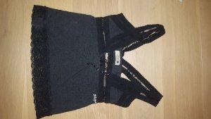 Lace Top black cotton