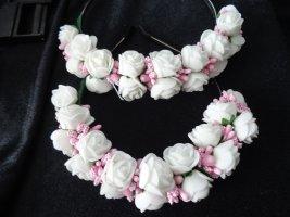 Serre-tête blanc-rose