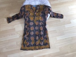 aurobelle Vestido tipo túnica marrón claro-naranja claro