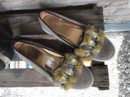 Mary Jane Ballerinas light brown leather