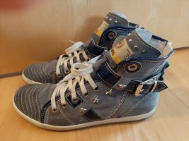 Ausgefallene blaue Sneaker von Manas Design Gr. 39