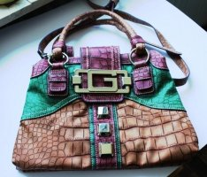 Ausgefallene Handtasche aus den 90er, wahrscheinlich Leder