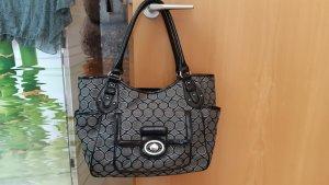 Nine west Carry Bag black-silver-colored