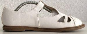 Sandalo con tacco alto e lacci a T bianco