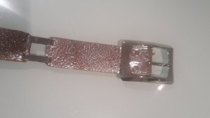 Chain Belt silver-colored leather