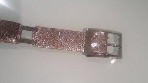 Cinturón de cadena color plata Cuero