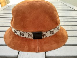 Ausgefallener Original Gucci Hut aus Leder un Grösse M in 1 a Zustand