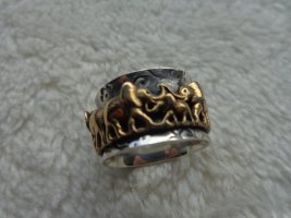 Silver Ring silver-colored-gold-colored real silver