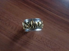Anello d'argento argento-oro Argento