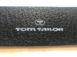 Tom Tailor Leather Belt black-silver-colored
