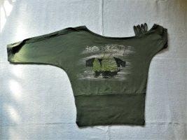 Ausgefallenes asymmetrisches Shirt in Grün