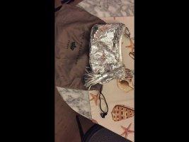 Ausgehtäschchen mit Silberpailletten, Leder, von RUE PRINCESSE, paris