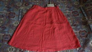 Falda de lino salmón-rojo claro Lino