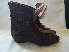 Wciągane buty za kostkę brązowy-cognac